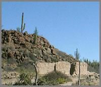 Baja, Mexico Mission San Francisco de Borja ruins