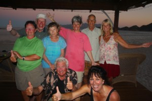 Coolest Baja eco-lodge management job. Photo of happy travelers: Las Animas Wilderness Eco Lodge,