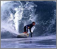 Baja surfer Kevin Warren @ Isla Natividad
