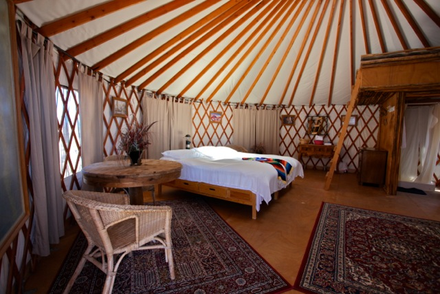 Las Animas baja ecolodge yurt interior